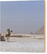Great Pyramids Of Giza - Egypt Wood Print