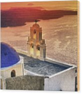 Greek Island - Santorini Wood Print