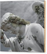 Grieving Angel Wood Print