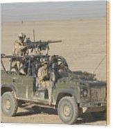 Gurkhas Patrol Afghanistan In A Land Wood Print