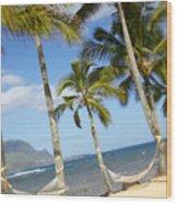 Hanalei Bay, Hammock Wood Print