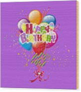Happy 40th Birthday Wood Print