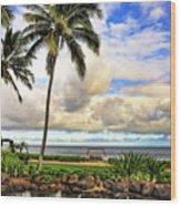 Hawaii Pardise Wood Print