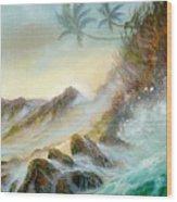 Hawaii Seascape Wood Print