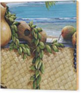 Hawaiian Still Life Panel Wood Print by Sandra Blazel - Printscapes