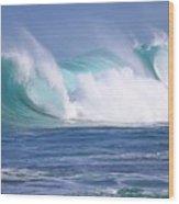 Hawaiian Winter Waves Wood Print