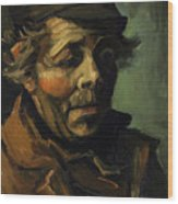 Head Of A Peasant With Cap Wood Print