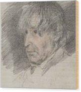 Head Of An Old Man Wood Print
