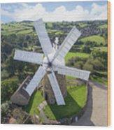 Heage Windmill Wood Print