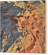 High Above Wash 3 In Valley Of Fire Wood Print