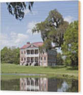 Historic Drayton Hall In Charleston South Carolina Wood Print
