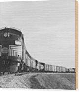 Historic Freight Train Wood Print