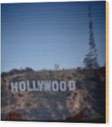 Hollywood Sign Wood Print