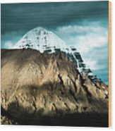 Holy Kailas East Slop Himalayas Tibet Yantra.lv Wood Print