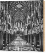 Holy Name Cathedral Wood Print