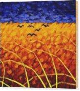 Homage To Van Gogh Wood Print