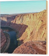 Horseshoe Bend Colorado River Arizona Usa Wood Print