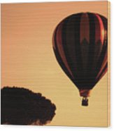 Hot Air Balloon Wood Print