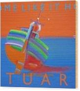 Hot Boat Wood Print