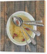 Hot Soup Wood Print