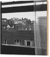 Hotel Window Butte Montana 1979 Wood Print
