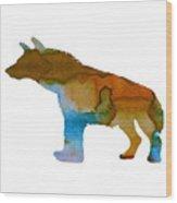 Hyena Wood Print