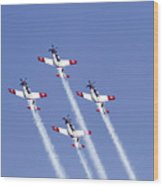 Iaf Acrobatic Team Wood Print