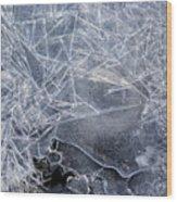 2. Ice Pattern 1, Corbridge Wood Print