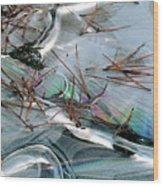 2. Ice Prismatics 1, Slaley Sand Quarry Wood Print