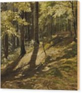 In A Forest Wood Print