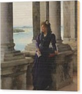 In The Belfry Of The Campanile Of St Marks Venice Henry Woods Wood Print