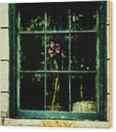 In The Window Wood Print