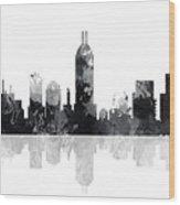 Indiana Indianapolis Skyline Wood Print