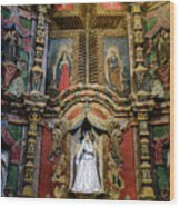 Interior Statue - San Xavier Mission - Tucson Arizona Wood Print