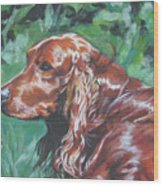 Irish  Setter Wood Print