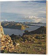 Isla De Sol Bolivia Wood Print