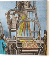 Jacquard Loom For Weaving Textiles Wood Print