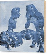 Jane And Tarzan-blue Wood Print