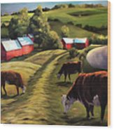 Jenne Farm In Reading Vermont Wood Print