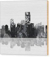 Jersey City New Jersey Skyline Wood Print