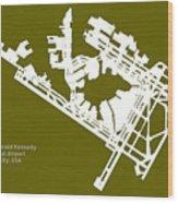 Jfk John Fitzgerald Kennedy International Airport In New York Ci Wood Print