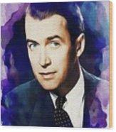 Jimmy Stewart, Vintage Movie Star Wood Print