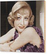 Joan Crawford, Ca. 1930s Wood Print by Everett