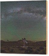 Joshua Tree Milky Way Panorama  Wood Print