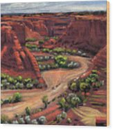 Junction Canyon De Chelly Wood Print