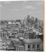 Kansas City Skyline Wood Print