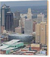 Kansas City Skyline Panorama Wood Print