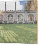 King's College Cambridge Wood Print