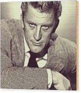 Kirk Douglas, Vintage Actor Wood Print