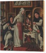 Kitchen In A Convent Wood Print
